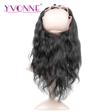 YVONNE 360 Lace Frontal Brazilian Body Wave Virgin Hair 12″-16″ Natural Color 100% Human Hair With Adjustment