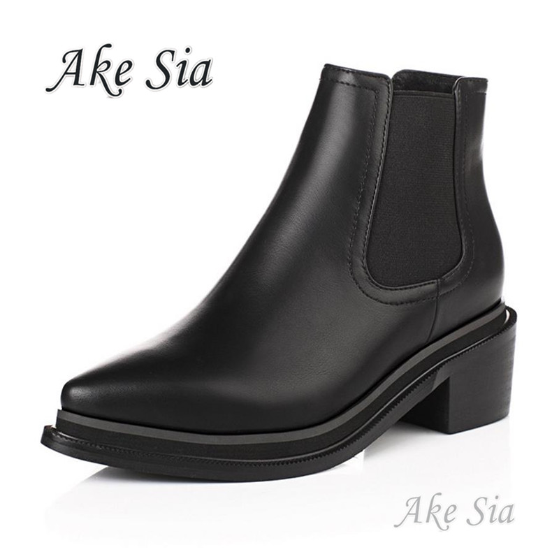 Autumn Winter Boots Brand Design Ankle Boots Black Rain Boots Elastic Band Shoes Woman Solid Rubber Waterproof Flats F216