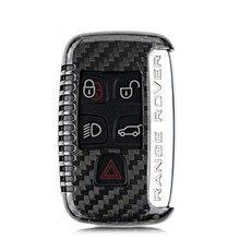 2016 100% Carbon Fiber Car Auto Remote Keyless Entry Key Case Cover Fob Holder Shell for Range Rover Discovery Freelander Jaguar