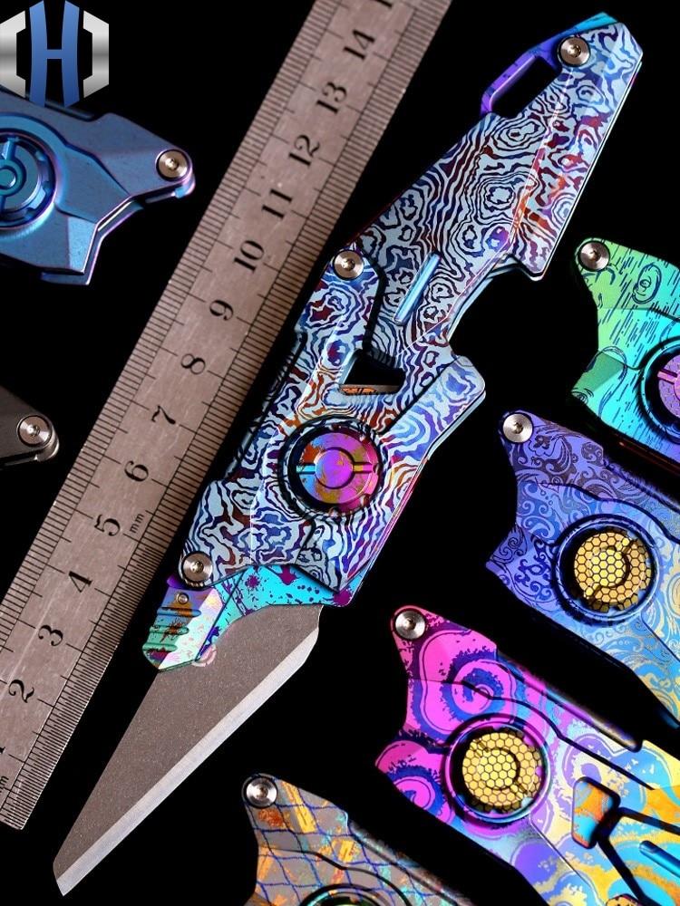 FS Utility Knife E03 Titanium Alloy Folding TC4 Paper Cutter Open Letter Knife Wallpaper Knife Open Box Heavy Duty Utility Knife