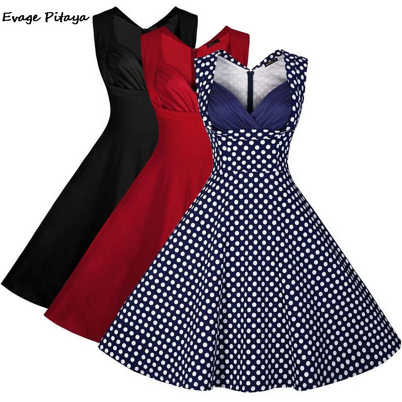 Compare Prices on Polka Dot Retro Dress- Online Shopping/Buy Low ...