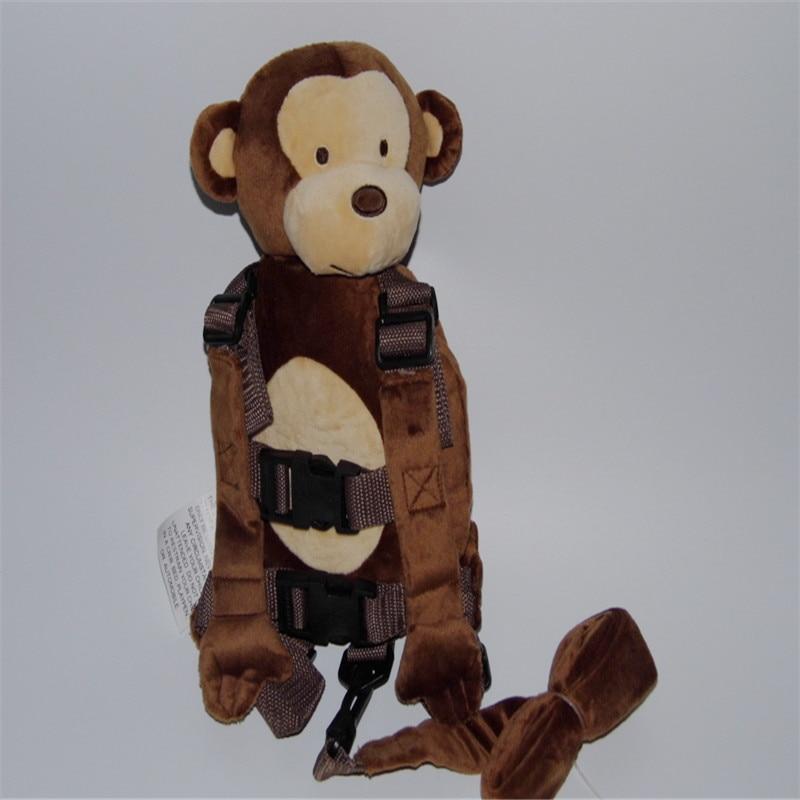 Børn Harness Buddy Monkey Ny 2 i 1 Baby Harnesses Rygsæk Sikkerhed Walking Tøj til børn i alderen fra 1 til 3