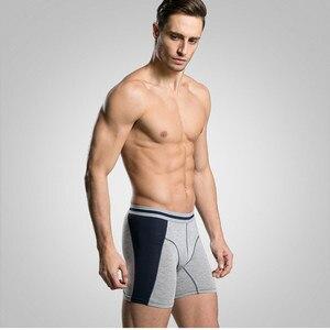 Image 4 - Boxer Long pour hommes, 3 pièces/lot, caleçon Homme à mode, Slip court, culotte masculine mince, tendance M XXXL