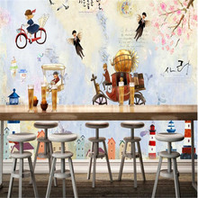 beibehang Custom mural photo fashion modern minimalist aesthetic Korean style cartoon dream light TV sofa restaurant wallpaper(China)