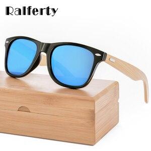 Ralferty Retro Wood Sunglasses Men Bamboo Sunglass Women Brand Sport Goggle Mirror UV400 Sun Glasses Male Shades lunette oculos