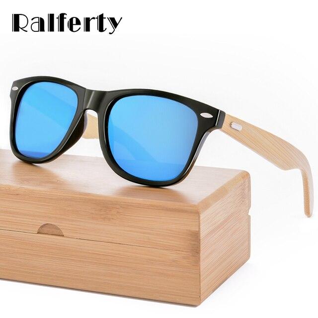 52cd8b3e4781c Ralferty Retro Óculos De Sol Dos Homens de Bambu de Madeira Óculos De Sol  Das Mulheres