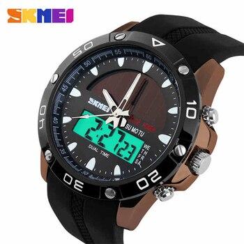 Skmei energia solar homem esportes relógios relógio de quartzo digital relogio masculino relógio solar militar relojes hombre 2018
