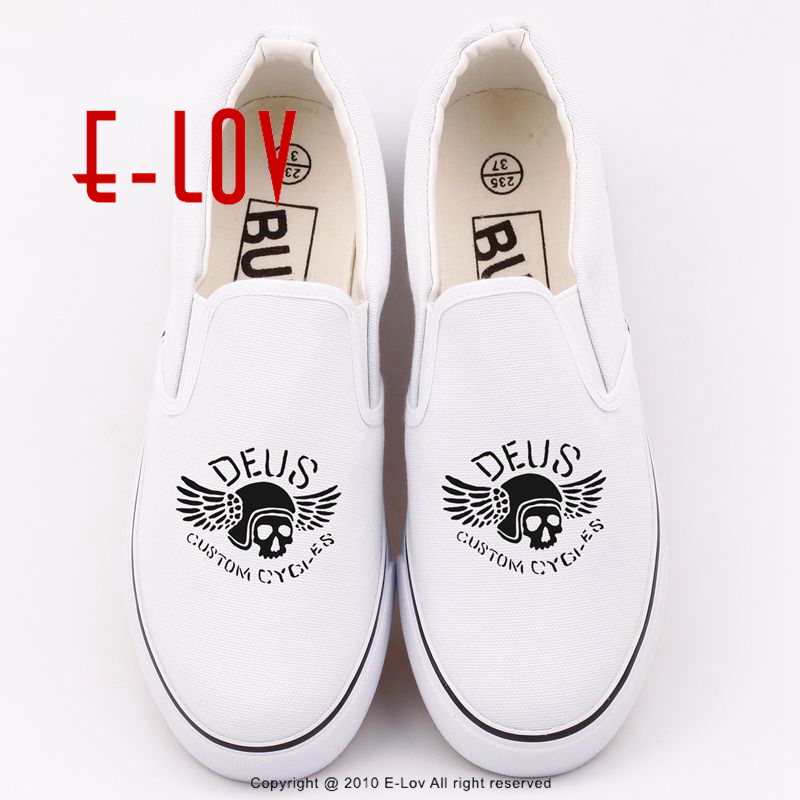 Hot Game Printed Deus Ex Women Casual Shoes Summer Comfortable Hip Hop Canvas Flats Slip On Loafers Custom Unisex Shoe