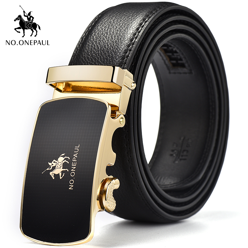 NO.ONEPAUL Men Luxury Belt Designer Carefully Create A New Trend Of Metal Phnom Penh Automatic Buckle Leather Belt Freight Free