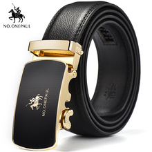 NO.ONEPAUL Men luxury belt designer carefully create a new trend of metal phnom penh automatic buckle leather freight free