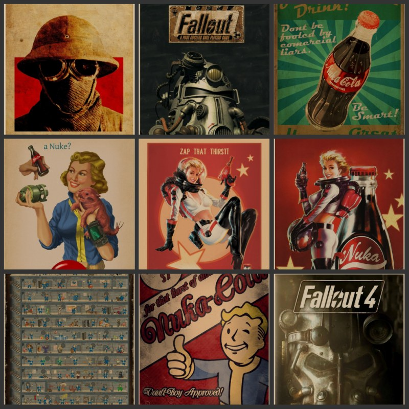 Radiation, 3, 4 game poster home decoration kraft posters posters drawing core wall decoration