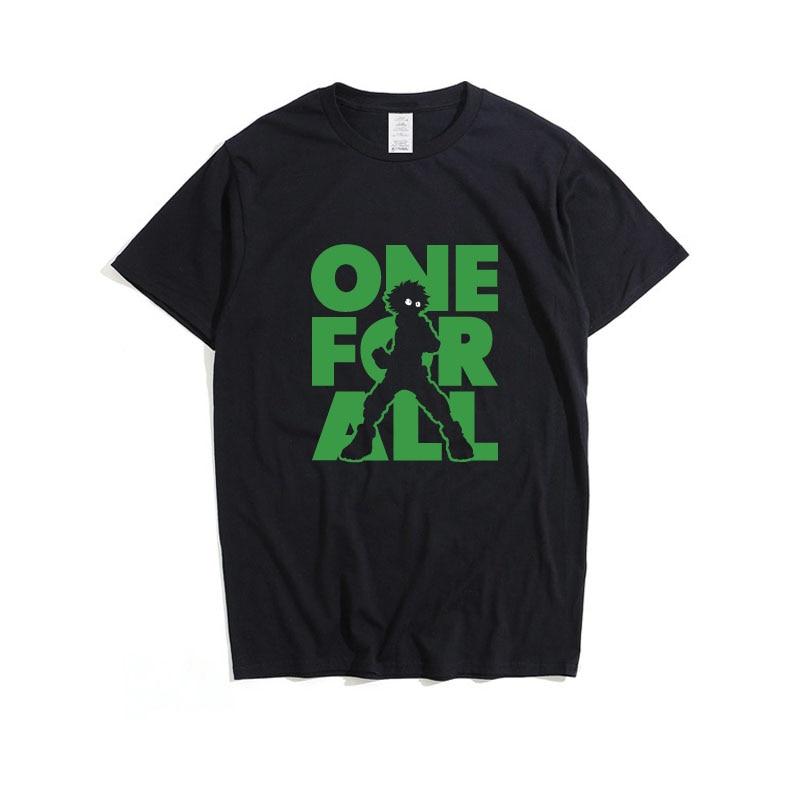 Cosroad Boku No My Hero Academia Midoriya Izuku One for All T Shirt Men Cotton Summer T-shirts1 (2)