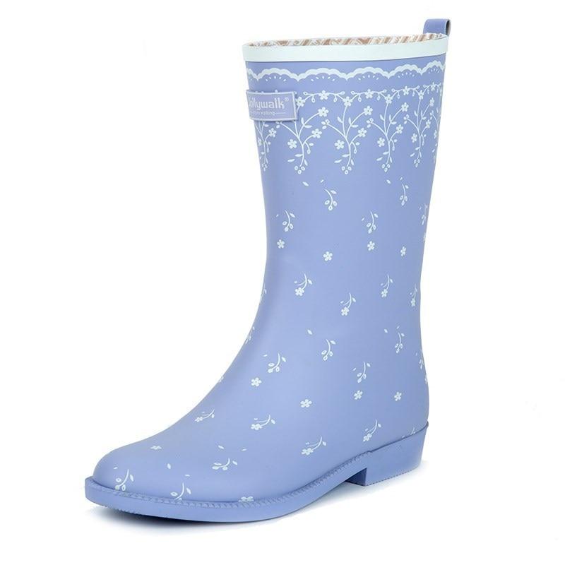 Новое поступление 2 Стиль 2018 женские Модные короткие непромокаемые сапоги, Непромокаемые резиновые сапоги для девушек Брендовая обувь для ...