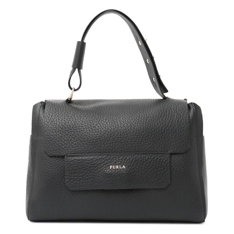 Authentic Original & Brand New  Luxury FURLA CAPRICCIO M TOP Handbag  Leather Bag BJI4