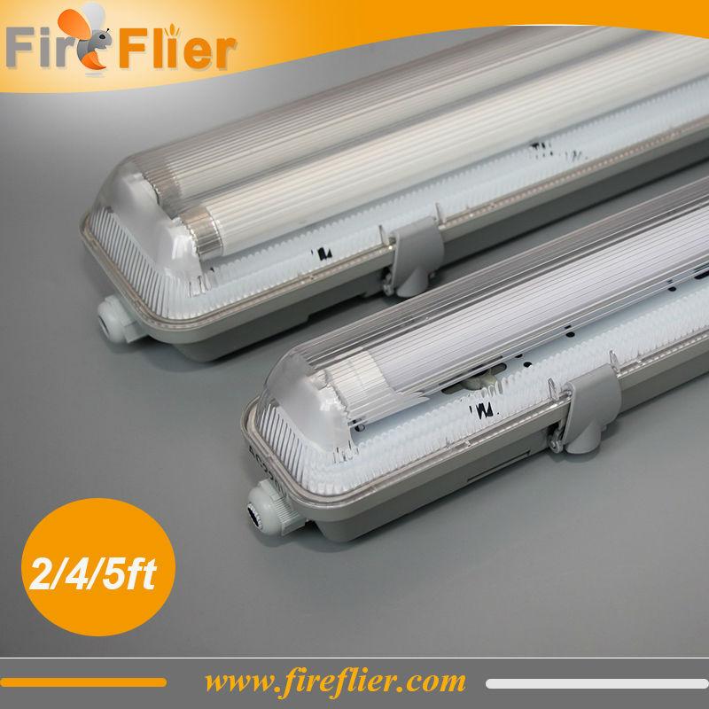 Free Shipping 8pcs/lot IP65 60cm 120cm 150cm LED Tube Lighting Fixture Waterproof Triproof T8 Led Fixture 2*9w 2*18w 2*24w