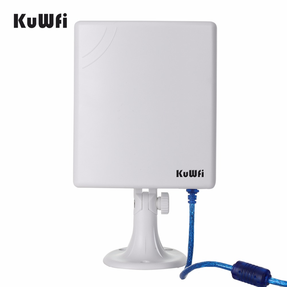 Image 3 - KuWfi 150Mbps Wifi Receiver Soft AP High Gain 14dBi  Antenna 5m Cable USB Adapter High Power Outdoor Waterproof Long Range-in Network Cards from Computer & Office