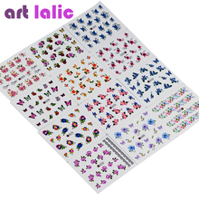 50 Sheets Nail Stickers Mixed Designs Water DIY Decoration For Beauty Nail