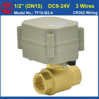 3 WIRES DC7 35V Motorised Valve TWO WAY 1 2 Brass Valve For HAVC Solar System