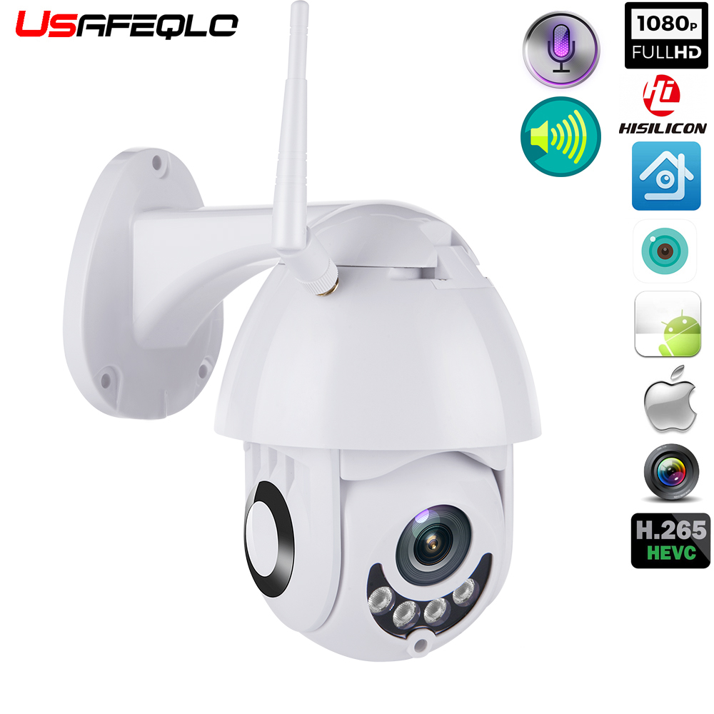 WIFI Camera Outdoor PTZ IP Camera H.265X 1080p Speed Dome CCTV Security Cameras IP Camera WIFI Exterior 2MP IR Home Surveilance-in Surveillance Cameras from Security & Protection    1