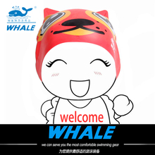 WHALE Brand For child Free shipping lovely cap swimming pool cute swimming cap for child baby chidren