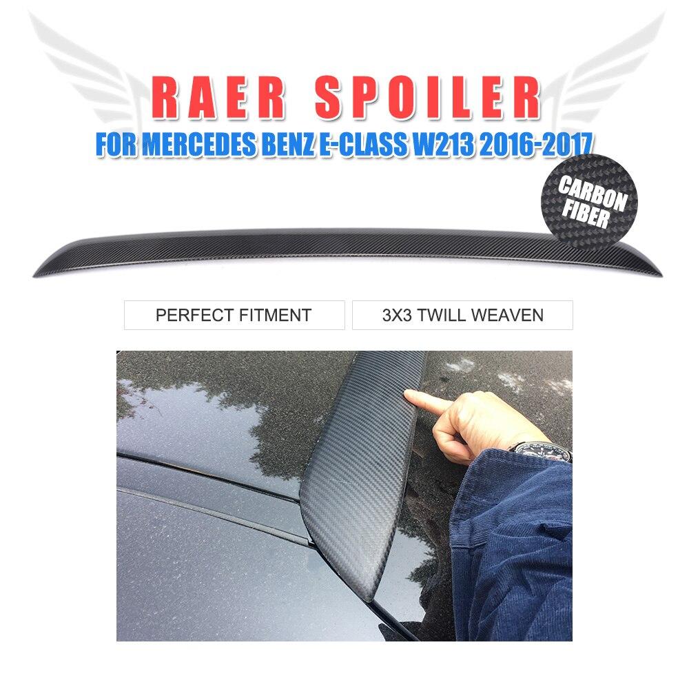 Carbon fiber Rear Roof Spoiler lip Wing for Mercedes Benz E200 E250 E300 E350 E400 E500 E550 E63 AMG Sedan 4-door 16-17Carbon fiber Rear Roof Spoiler lip Wing for Mercedes Benz E200 E250 E300 E350 E400 E500 E550 E63 AMG Sedan 4-door 16-17