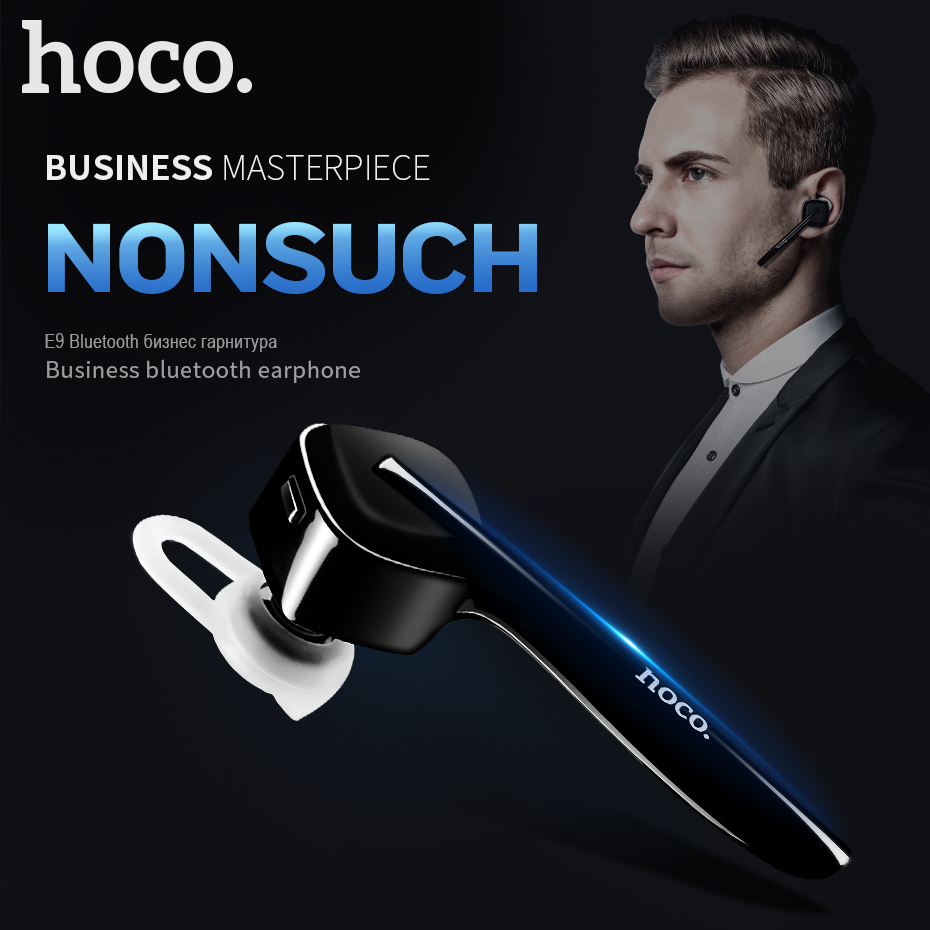 HOCO Bluetooth Earphone for Phone Wireless Headset with Microphone Handsfree for Car In-Ear Hook Mini for iPhone Samsung Phones remax 2 in1 mini bluetooth 4 0 headphones usb car charger dock wireless car headset bluetooth earphone for iphone 7 6s android