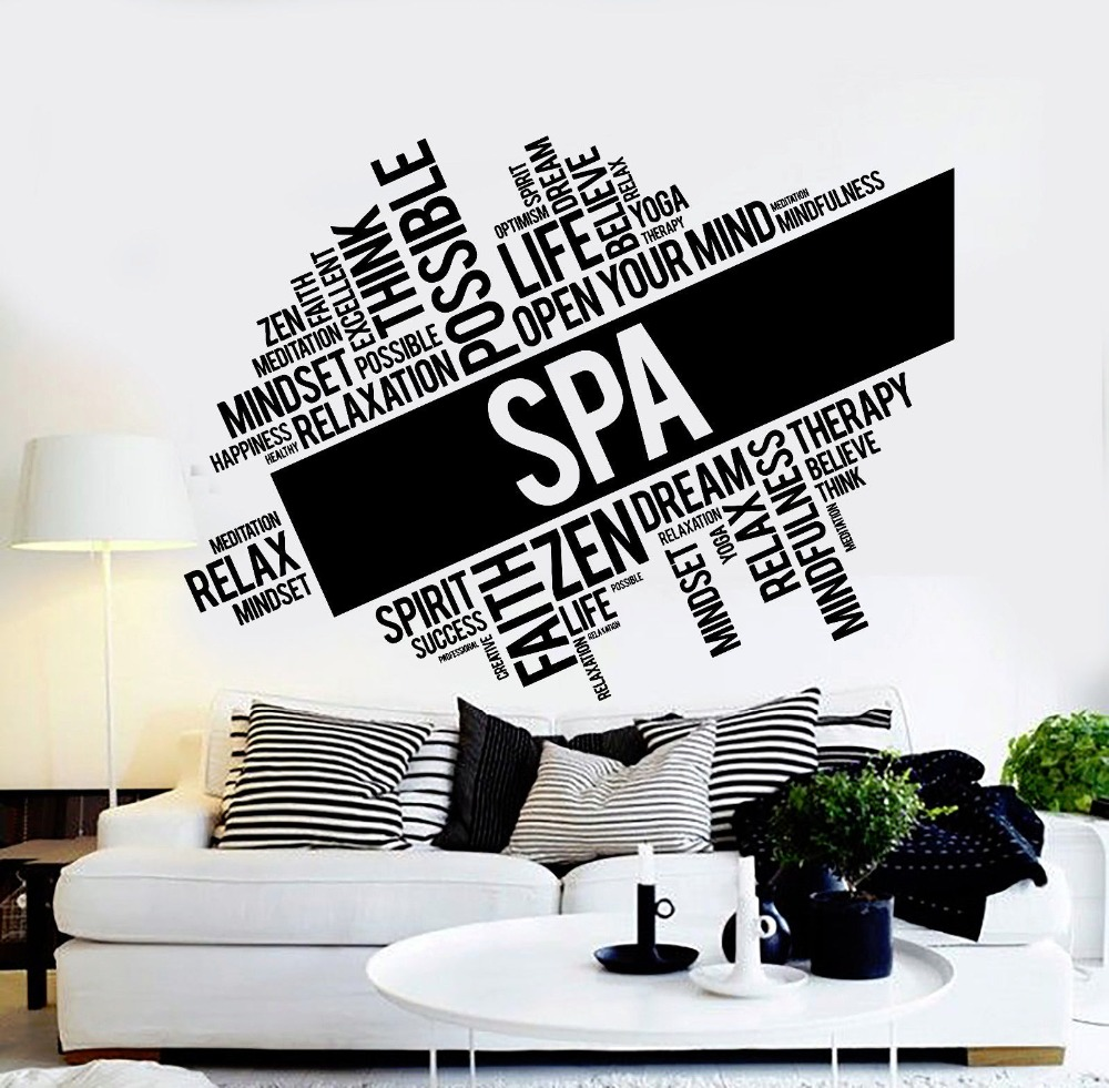 Spa Beauty Salon Vinyl Wall Sticker Spa Salon Massage