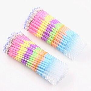 Image 3 - Jonvon Satone stylo recharge multicolore, 200 pièces, arc en ciel, surligneur, stylo Gel, papeterie, stylos peinture graffitis, cadeau
