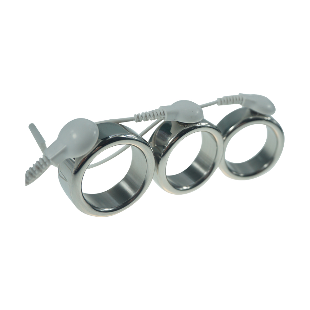 For DIY  26mm/28mm/30mm for choose electric shock stainless steel delay ejaculation cock ring electro shock penis ring sex toys