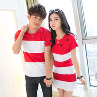 KJ127 Couple Casual Fashion Clothes Men Summer 2017 Tees O Neck T Shirt Women S Short