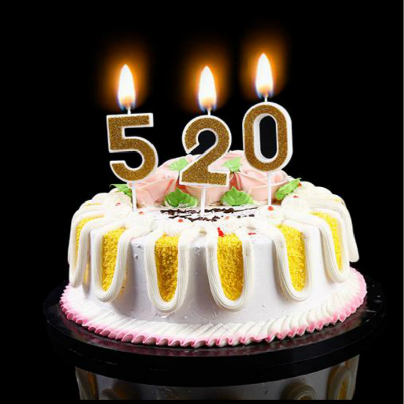 Birthday Candles Gold Red Number Cake Cupcake Topper Party Candle Decoration Supply LUHONGPARTY In Decorating Supplies From Home