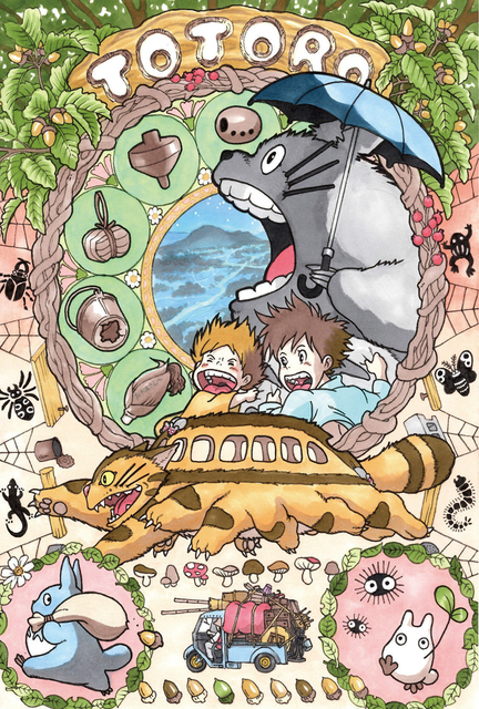 D606 Hot New Japan Anime Cat Series Comic Studio Ghibli My Neighbour Silk  Poster Art Print Canvas Painting Wall Posters 519003ef78
