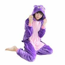 Аниме сейлор мун косплей диана пижамы мультфильм животных пижамы устанавливает фиолетовый cat для женщин и девочек зима осень теплый домашняя одежда