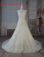 2017 New Design Hot Sale High Quality Champagne And Ivory Lace Wedding Dress Bridal Gown Off