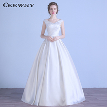 CEEWHY V Neck Wedding Dress Ball Gown Vestido de Casamento Robe Mariee Sirene Novia Dresses Bridal