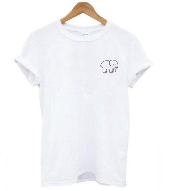 471382763 New arrival elephant t shirt women graphic tumblr t-shirt girls plus size  tops female funny cute tshirt tee