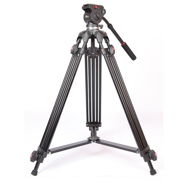 JIEYANG JY0508 מקצועי מצלמה וידאו חצובה Dslr חצובות נוזל ראש דעיכת JY 0508 Tripodes Camaras Para JY0508B