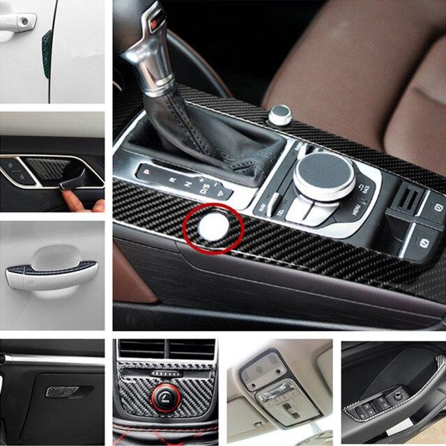 Interieur Kohlefaser Türgriff Aufkleber Streifen Für Audi A3 8 V ...