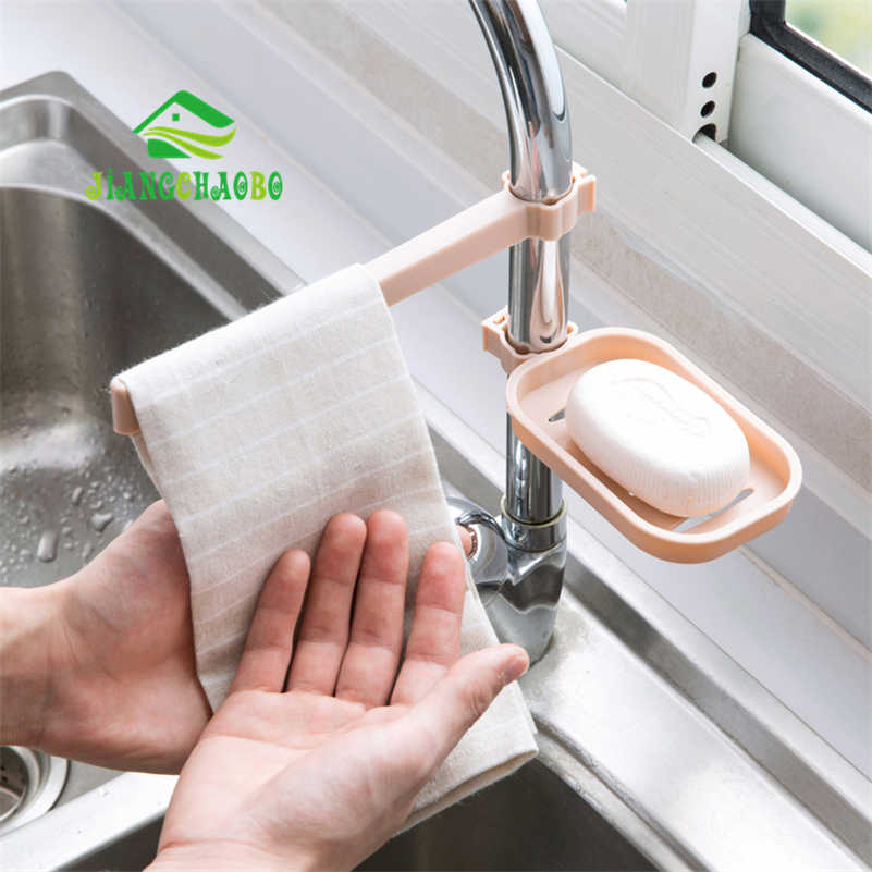 1 cái Bồn Rửa Treo Lưu Trữ Giá Lưu Trữ Giữ Miếng Bọt Biển Phòng Tắm Nhà Bếp Vòi Nước Clip Món Ăn Vải Clip Kệ Cống Khăn Khô Organizer
