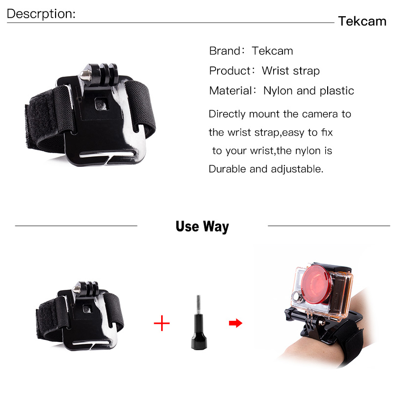 Image 5 - Tekcam для SJCAM аксессуары ремень селфи палка для SJCAM SJ4000 SJ5000 SJ6 Legend SJ7 Star SJ8 AIR SJ8 PRO SJ8 PLUS Экшн камера-in Чехлы для спортивных видеокамер from Бытовая электроника