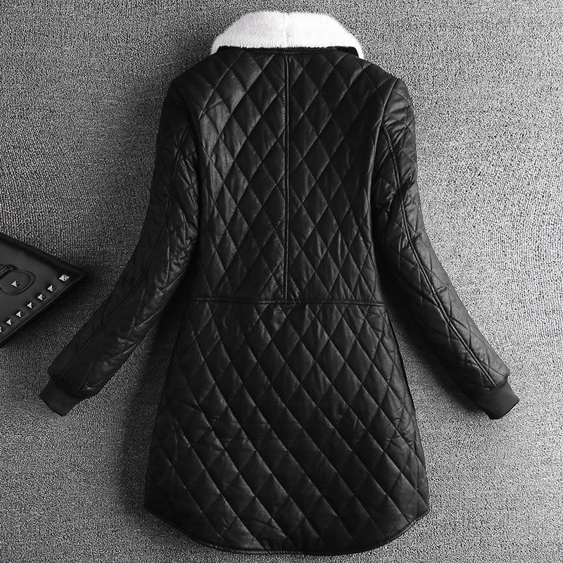 Mode Épaisseur Solide D'hiver 2018 Taille Veste Pleine Manches Black Femme Large Longueur Épaisse Poitrine Unique Longue À d6wPZwBqI