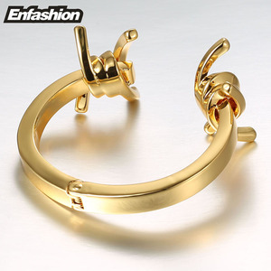 Image 5 - Enfashion תכשיטי קוצים דוקרני צמיד Noeud armband זהב צבע צמיד צמיד לנשים קאף צמידי Manchette צמידים