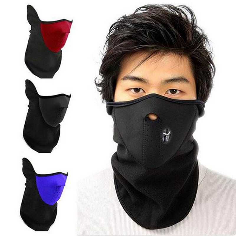 Hot Thermal Warmers Fleece Balaclavas CS Hat Winter Skiing Ear Windproof Face Mask Motorcycle Bicycle Scarf Neck Guard Face Mask