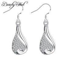Beauty Hut E249 2017 bottles earrings water droplets modeling silver jewelry zircon earrings