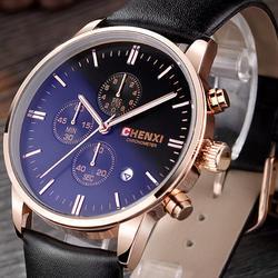 CHENXI Datejust Часы Для мужчин Элитный бренд золото Бизнес часы Для мужчин кварцевые наручные часы Повседневное Спорт часы hodinky Relogio Masculino