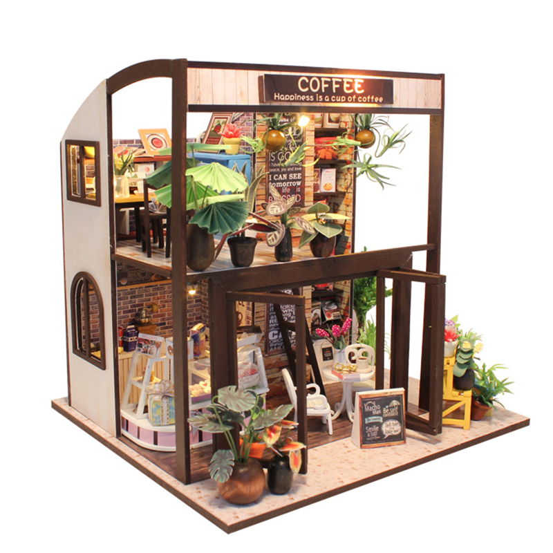 DIY Wooden House Miniaturas with Furniture DIY Miniature House Dollhouse Toys for Children Christmas and Birthday Gift M027 diy wooden house miniaturas with furniture diy miniature house dollhouse toys for children christmas and birthday gift a28
