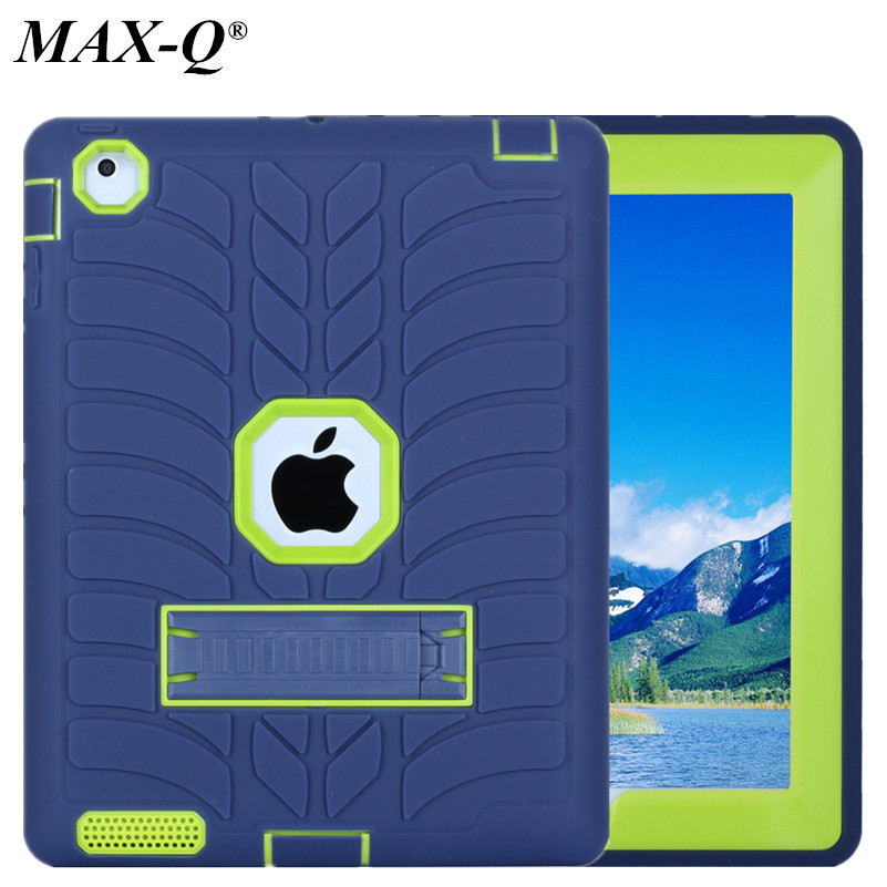 For Apple iPad 2 iPad 3 iPad 4 Case Cover High Impact Resistant Hybrid Three Layer Heavy Duty Armor Defender Full Body Protector armor shockproof case for apple ipad air 2 impact resistant hybrid 3 layer silicone combo case full body protector for ipad 6