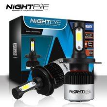 NIGHTEYE luces led para auto h7 LED frontal párr cabeza bombilla kit led H7 H1 H3 H4 H8 HB3 H11 lampara Las Luces del coche 12 V