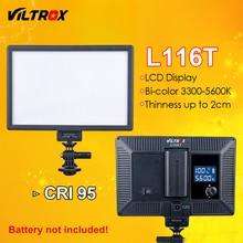 Viltrox L116T светодиодный свет ультра тонкий ЖК-дисплей Би-Цвет и затемнения DSLR студия светодиодные лампы Панель для Камера видеокамера