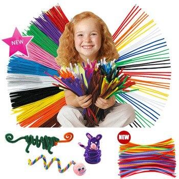 100 Pcs Crianças Criança Varas DIY Materiais Artesanais de Pelúcia Brinquedo de Presente de Natal Brinquedos para crianças crianças